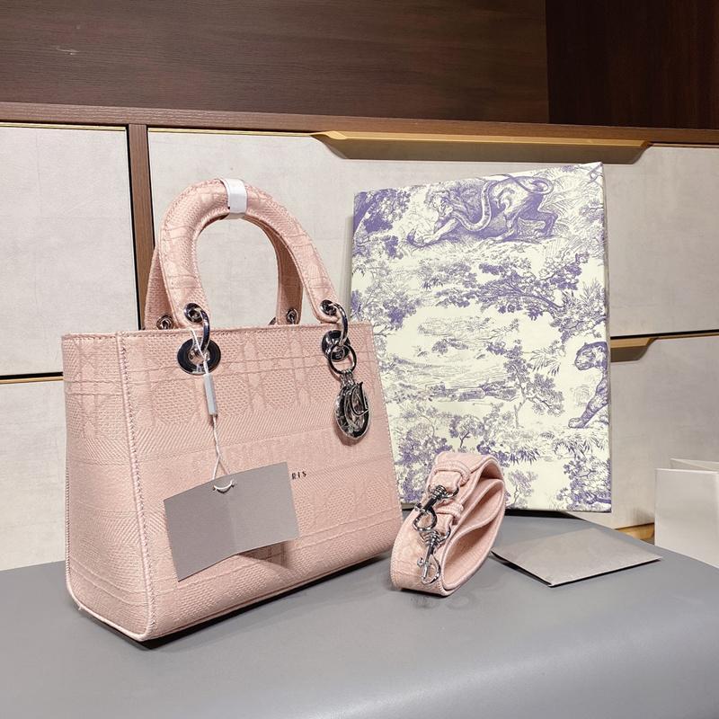 2021 Top Quality Designer Luxo Mulheres Bolsa Moda Bolsa De Ombro Lady D-Lite Verificação Bordada Princesa Bolsa