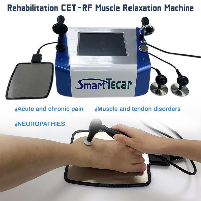 300W Phisiotherapie CET RET Diathermie TECA Körper Rehabilitation Therapie Tecar Schmerzlinderung Physiotherapie RF Radiofrequenzmaschine