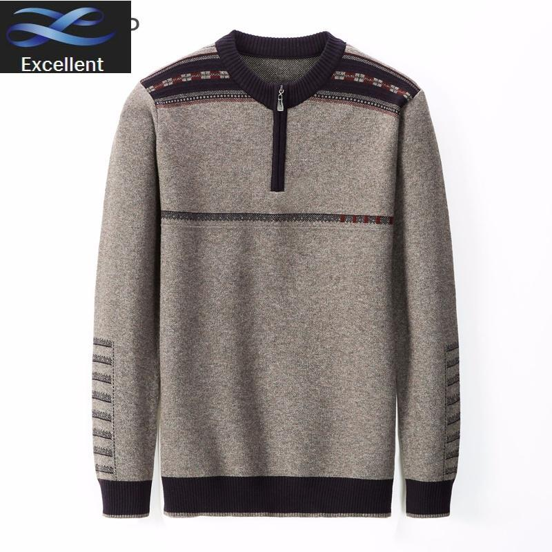 Suéteres para hombre Invierno 2021 MENS Marca de otoño suéter ocasional O-cuello Tirar Homme Moda Rayas Pullover Soft Jumper Hombres cálidos