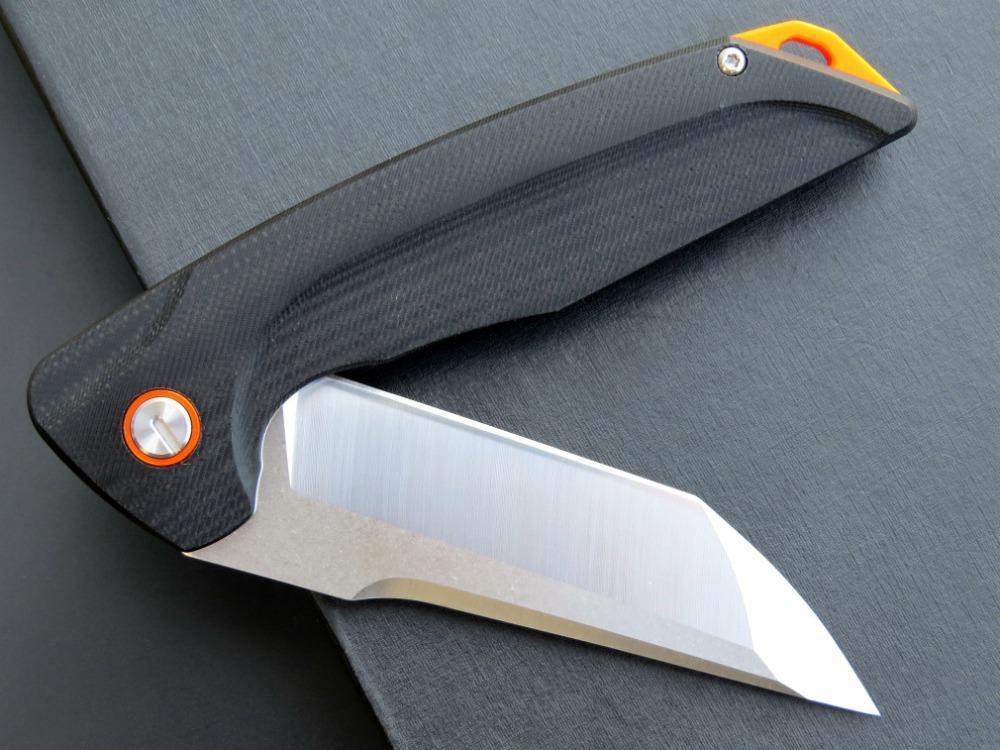 Hohe qualität rutschfeste G10 Griff d2 tanto scharfe blatt linerlock cnc faltende taktische kampierende Taschenmesser mit großem Geschenkbox Männer Werkzeug