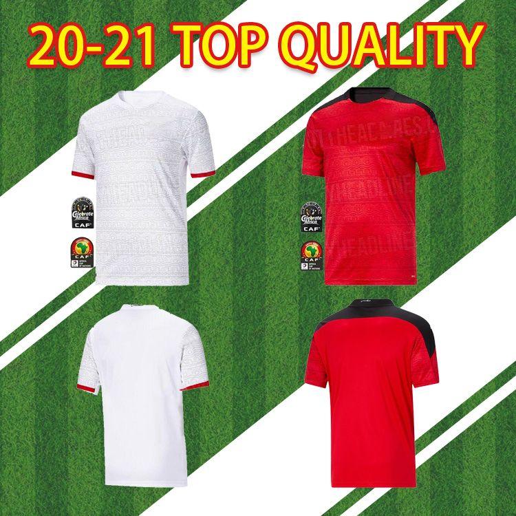 2020 Nuovo Egitto M. Salah Thai Thai Maglie di calcio di alta qualità Casa 20 21 Kahraba A. Hegazi Ramadan National Team Fans Version Camicia calcio