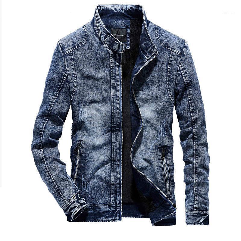 Джинсовая куртка мужчины зимние ретро теплые джинсы куртки мужские хлопковые лайнер на молнии повседневная джинсовая куртка шикарные винтажные мужские куртки1