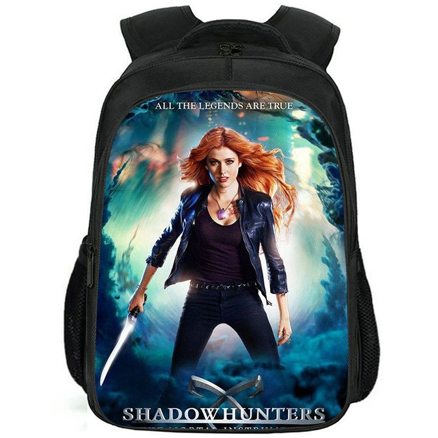 Clary Fray Backpack ShadowHunthunters Daypack Katherine McNamara Schoolbag Ocio Imprimir Rucksack Deporte Escuela Bolsa de escuela al aire libre Paquete de día