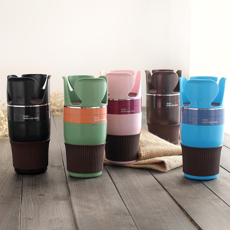 Reise-Kaffeetasse Abnehmbarer Becherhalter für multifunktionale Automobil-rotierende Speicher- und Regal-Becher Getränkehalter-Becher