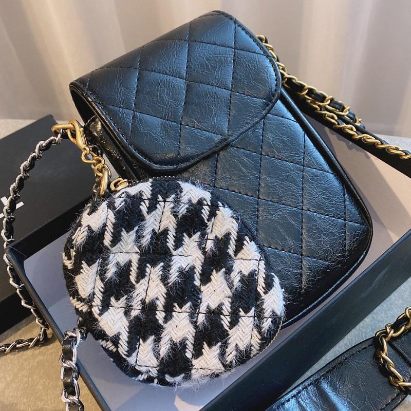 Bolso de teléfono de cuero genuino de calidad genuina Messenger Bolso de teléfono Diseñadores de lujo 2020 bolsas de lujo monedero monedero mujeres móviles NTCEQ