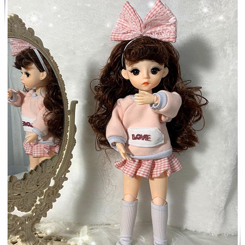 Yeni Varış 1/6 BJD Bebek 30 cm 23 Eklem Bebekler Kıyafetleri Ile Giysi Giydirme Makyaj Kızlar DIY Oyuncaklar En Iyi Hediyeler F1216