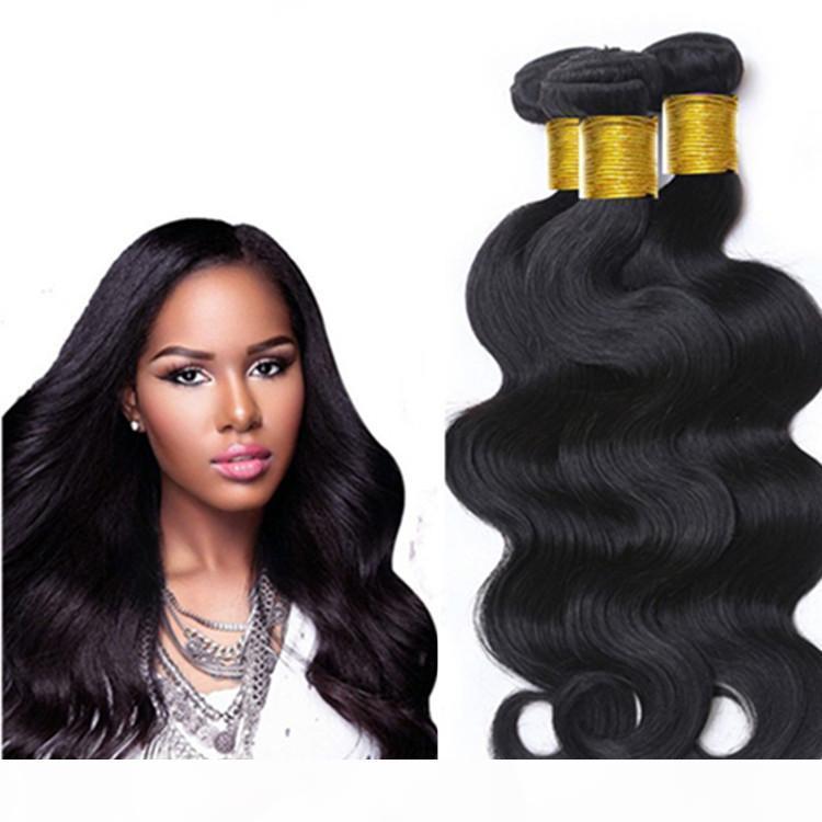 Le estensioni dei capelli umani vergini non trasformavano i capelli brasiliani Bundles Body Wave 8-34inch indiano peruviano peruviano remy remy capelli umani wefts