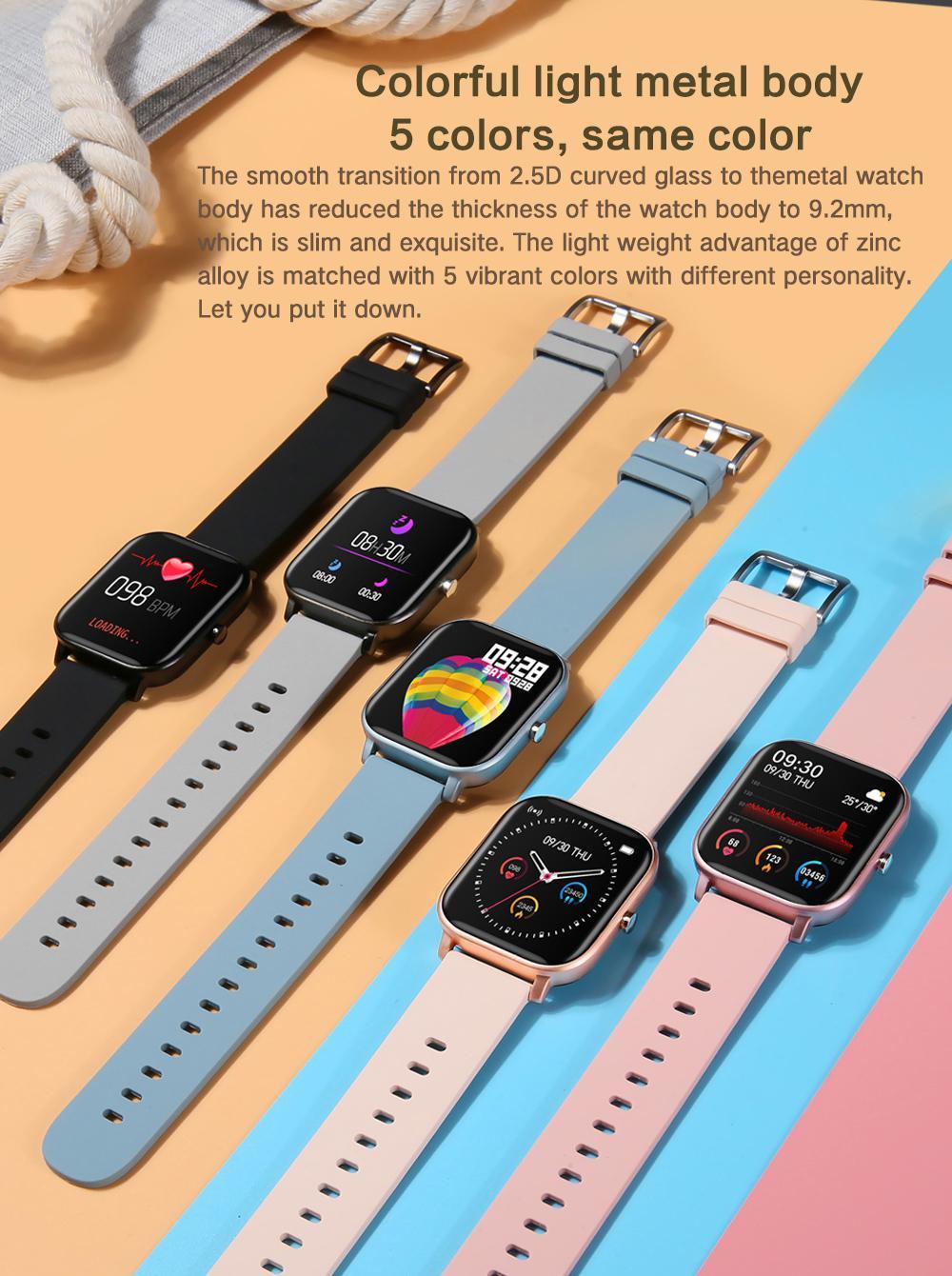 1,4 pollici Smart Watch Men Touch Touch Fitness Tracker Pressione sanguigna Smart Clock Donne GTS Smartwatch per Xiaomi