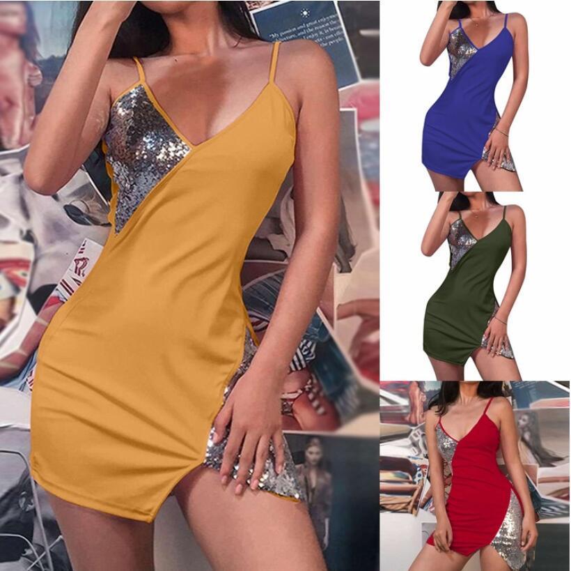 Yeni kadın giyim Avrupa ve Amerikan kolsuz askı uzun etek sıcak satış seksi gece kulübü askı elbise