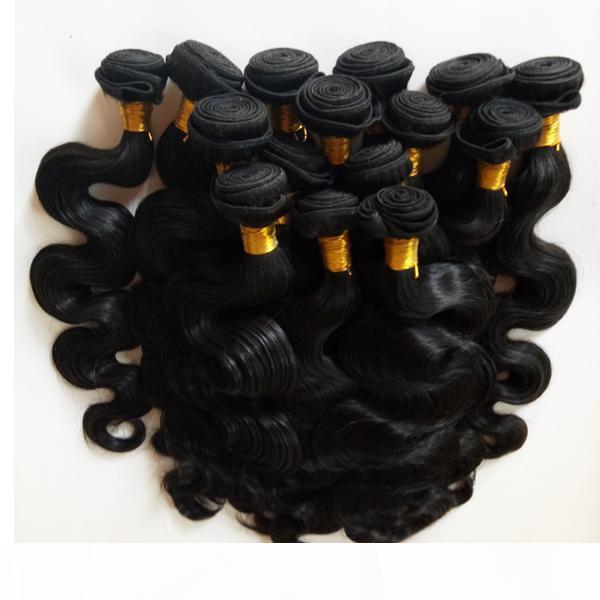 Brasileño India Malasia Virgen Humano Hermano Doble Trama Belleza Pelo Peruano Human Hair Extensiones 3bundas ola corporal Virgin Weave