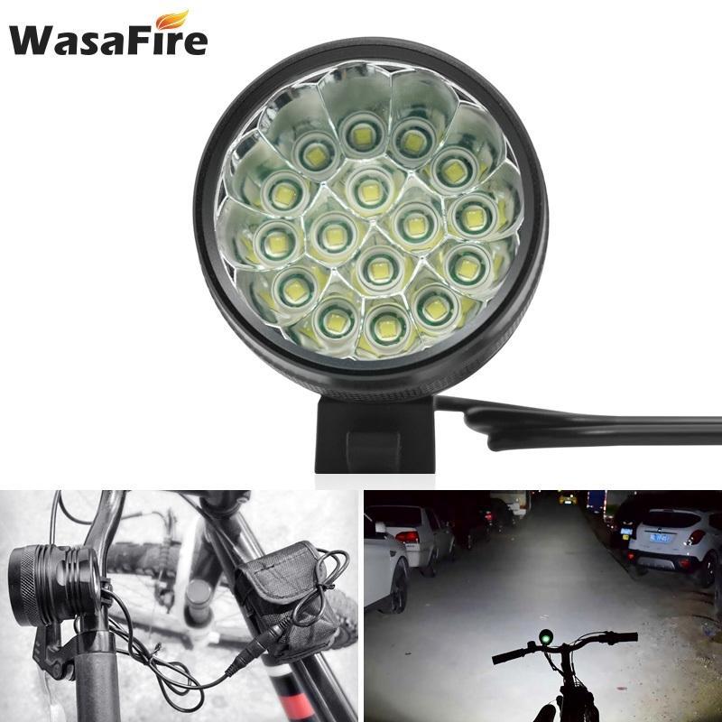 MTB Bicicleta Front Lights Farol Bike Light 40000LM 16 XML T6 LED Ciclismo Lâmpada Cabeça 18650 Bateria Running Farol Luz Bicicleta 201103