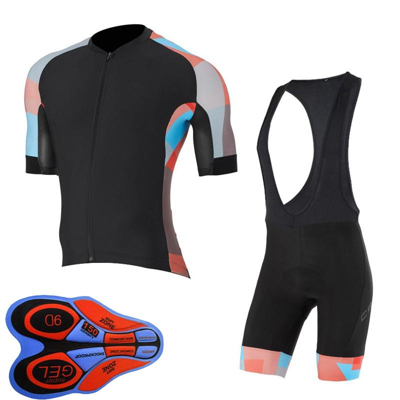 New Capo Team 2019 Summer Court Sleeve Cycling Jersey Set Hommes Vélo Tenue Vêtements Cycle Ropa Ciclismo Hombre Sport Uniforme Y102502