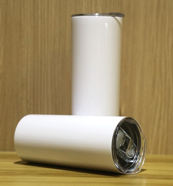 Dhl / ups 20 oz paslanmaz çelik fincan ısı transferi süblimasyon boşluklar bardak sonbahar dayanıklı giyim kahve kupa içmek skinny
