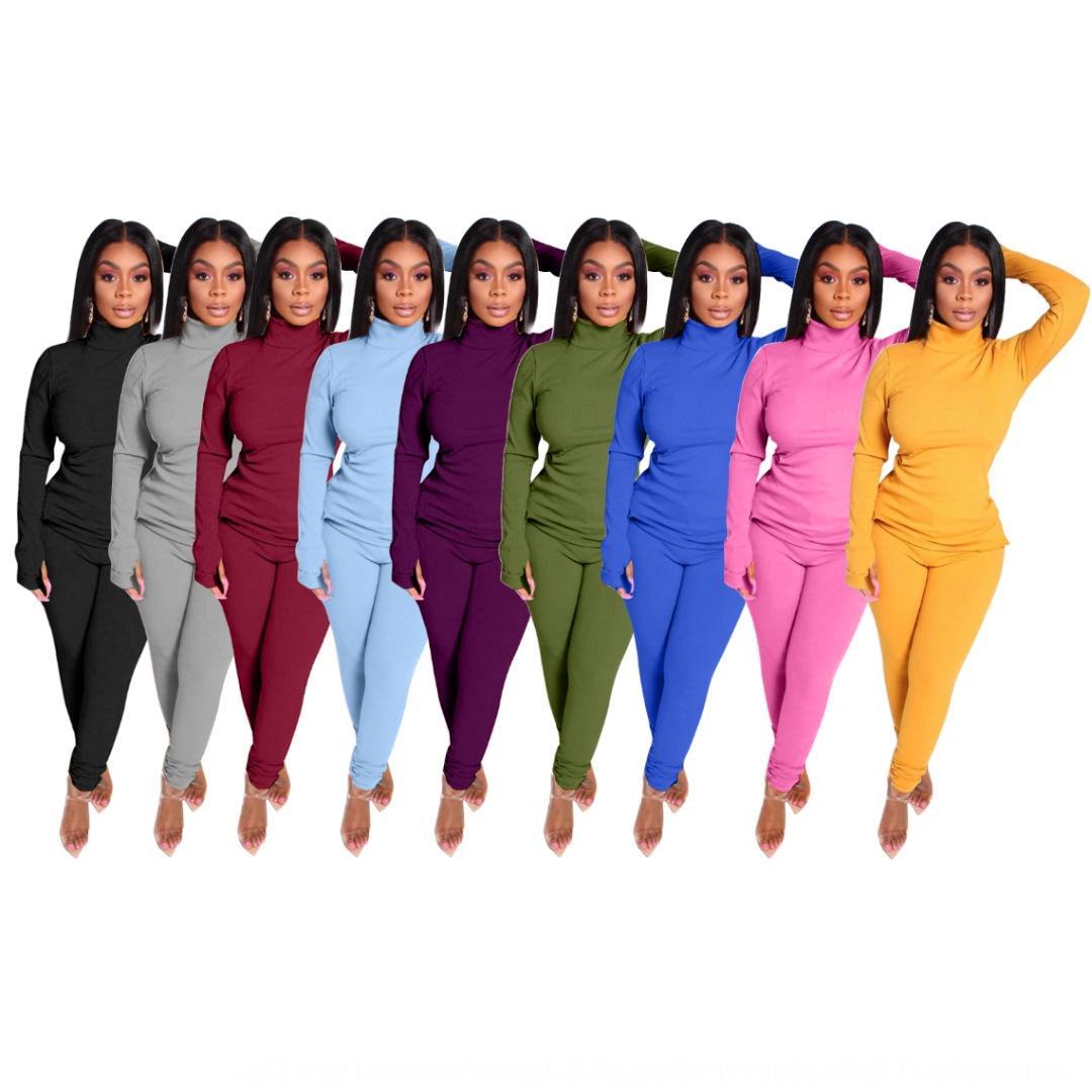 TZXQ 2018 2 Kadın Örme Kış Seti Suit Uzun Kollu O Boyun Sportwear Kazak Kazak Ve Cep Pantolon Parça 2 Adet Kıyafetler Artı Boyutu