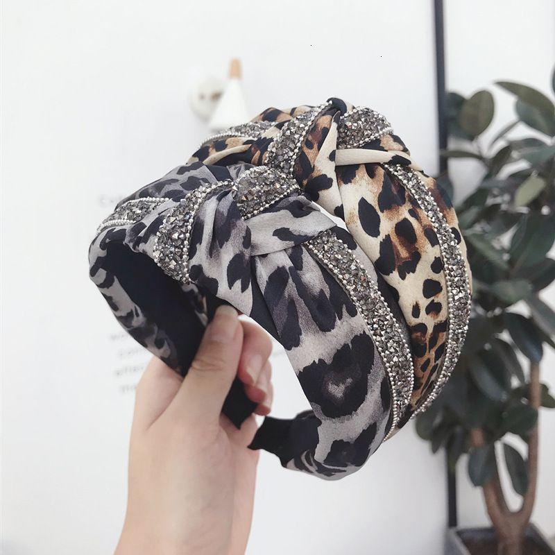 70% Desconto Novos Acessórios Coreanos Acessórios Ondas Point Leopard Listras com diamantes Knotted Headband Lateral
