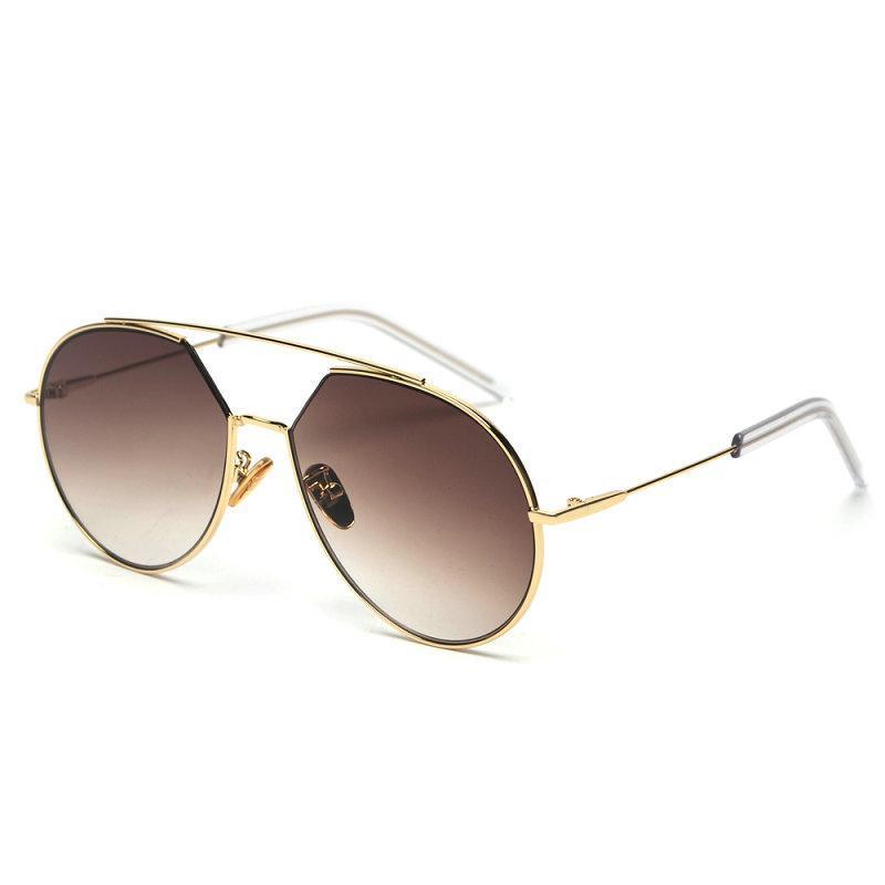 Übergroße Katze Sonnenbrille Frauen Marke Designer Randlose Quadratische Rahmen Klar Gradient Farbe Sonnenbrille Dame Shades FML