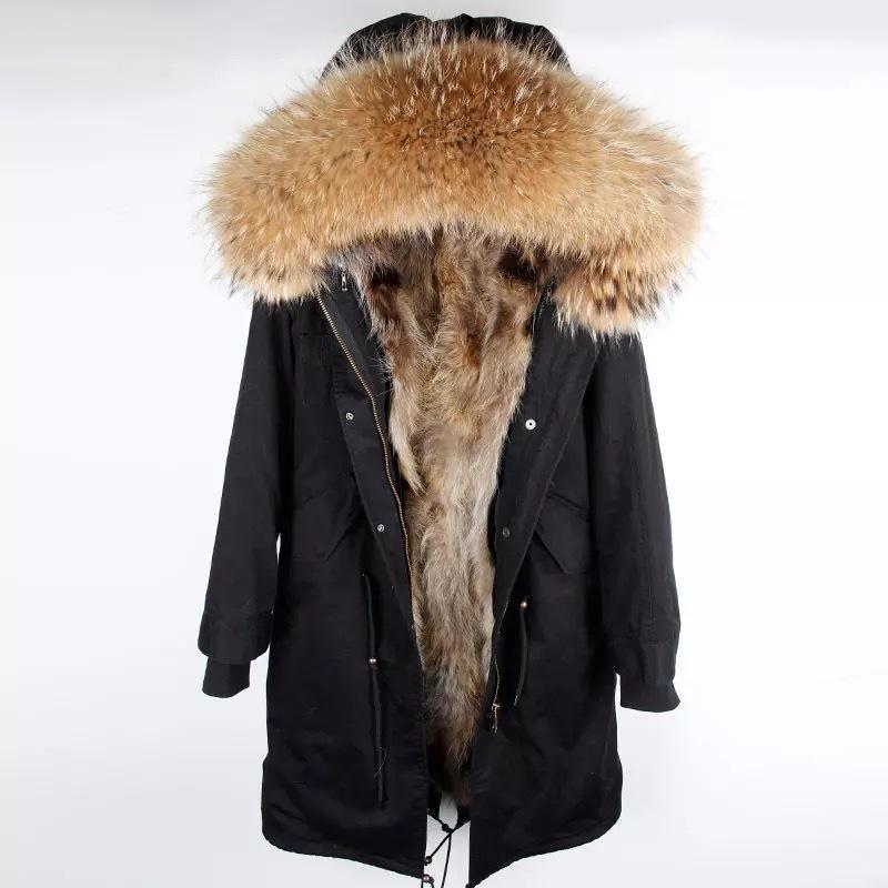 Parka мужчины зимняя куртка с капюшоном природа енота подкладка куртки человека реальная шуба 201104