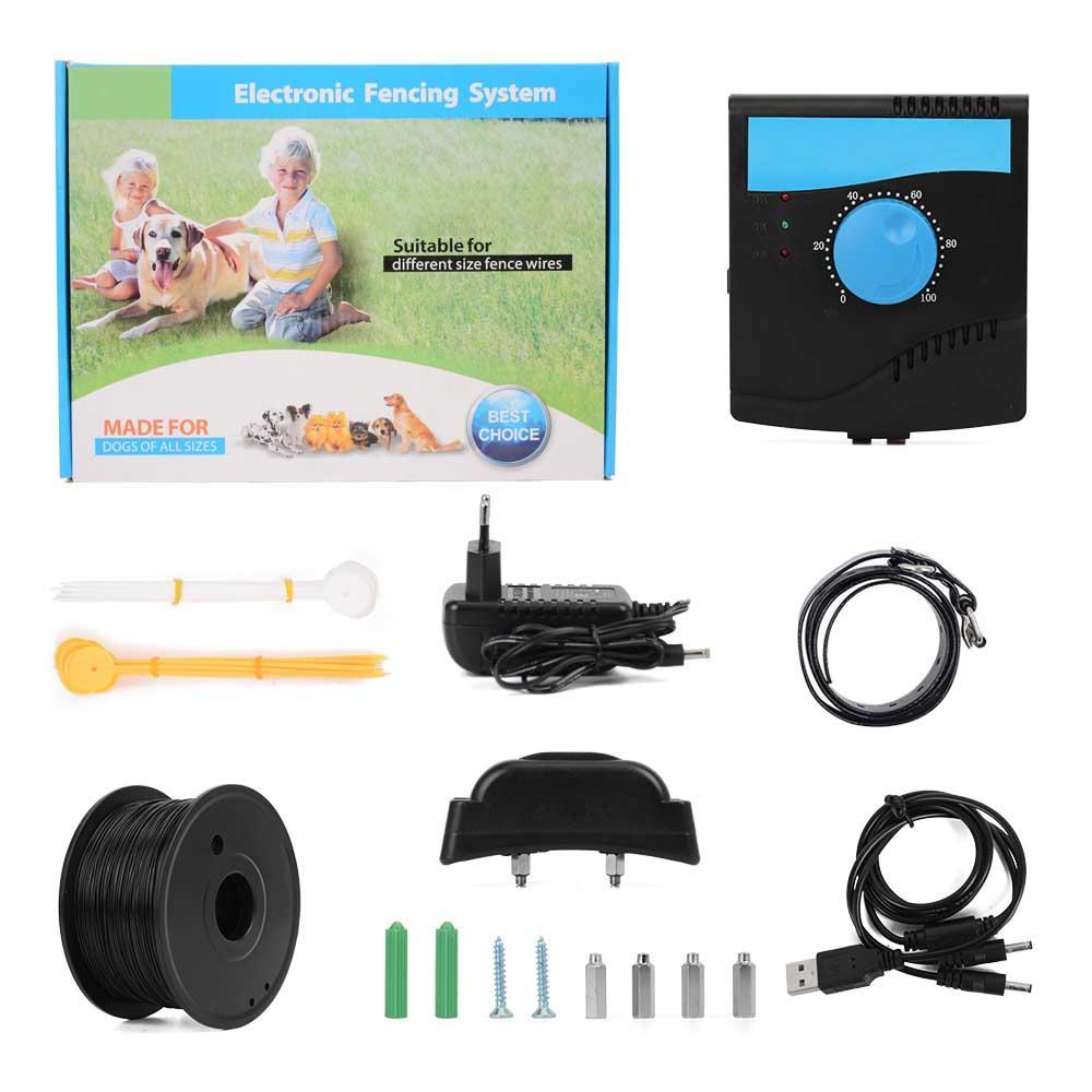 Sistema eletrônico da cerca de 1-4m do disparador para cães com dispositivo impermeável do sistema de esgrima do animal de estimação do bip