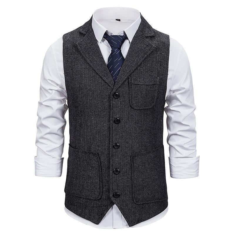 Männerwesten Markyi 2021 Mode Slim Fit Sleeveless Wedding Weste Herren Design Single Breasting Anzug Weste für