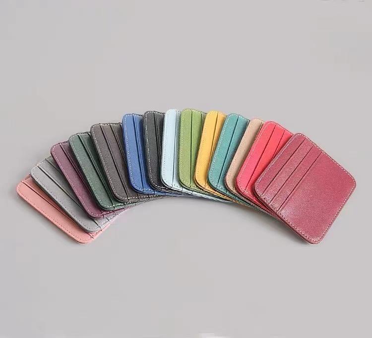 Wholesale mulheres de moeda de negócios clássico para cartão de cartão conjunto minimalista titular de crédito elegante homens pequenos mini-bolsa para o pacote jdmtu