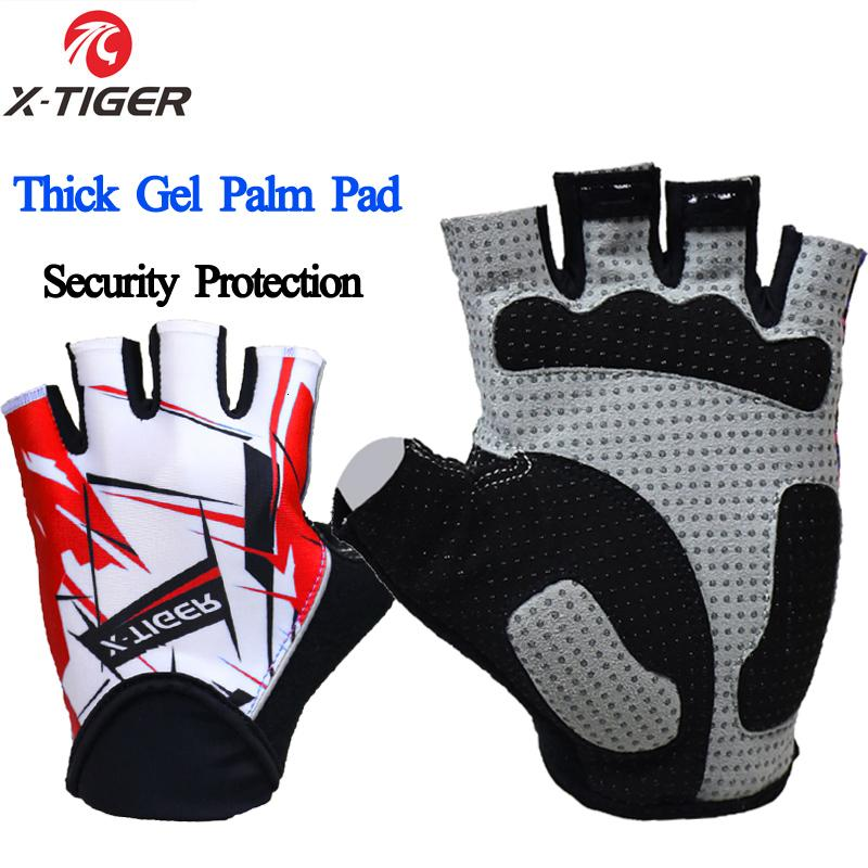 Палец X-TIGER Велосипед Абоназорная половина дышащих MTB Горные велосипедные перчатки Мужчины Спортивные Велосипедная одежда