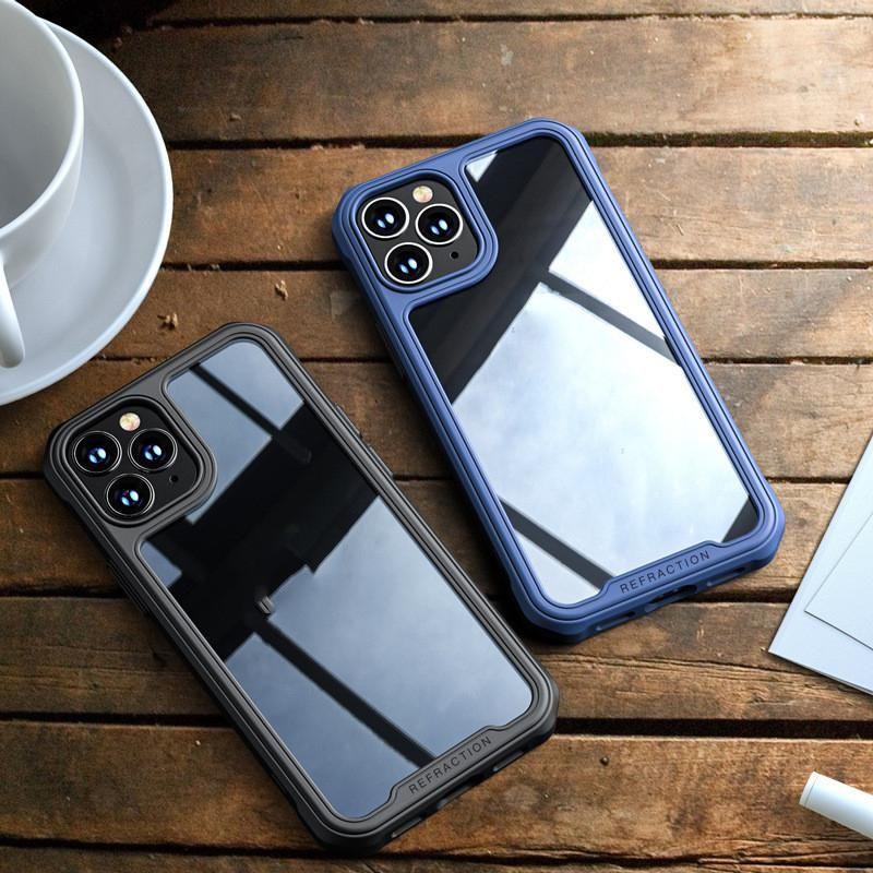 Estuche para teléfono móvil de cristal resistente a la rotura para iPhone 12 11 Pro Max SE 2020 XR XS MAX X 8 7 6 PLUS