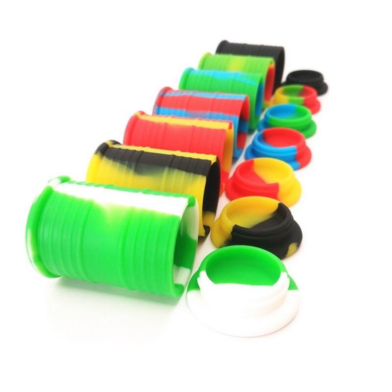 11ml yapışmaz balmumu kapları silikon kutusu çanta konteyner gıda sınıfı kavanoz DAB Aracı Depolama Kavanoz Yağ Tutucu DHL