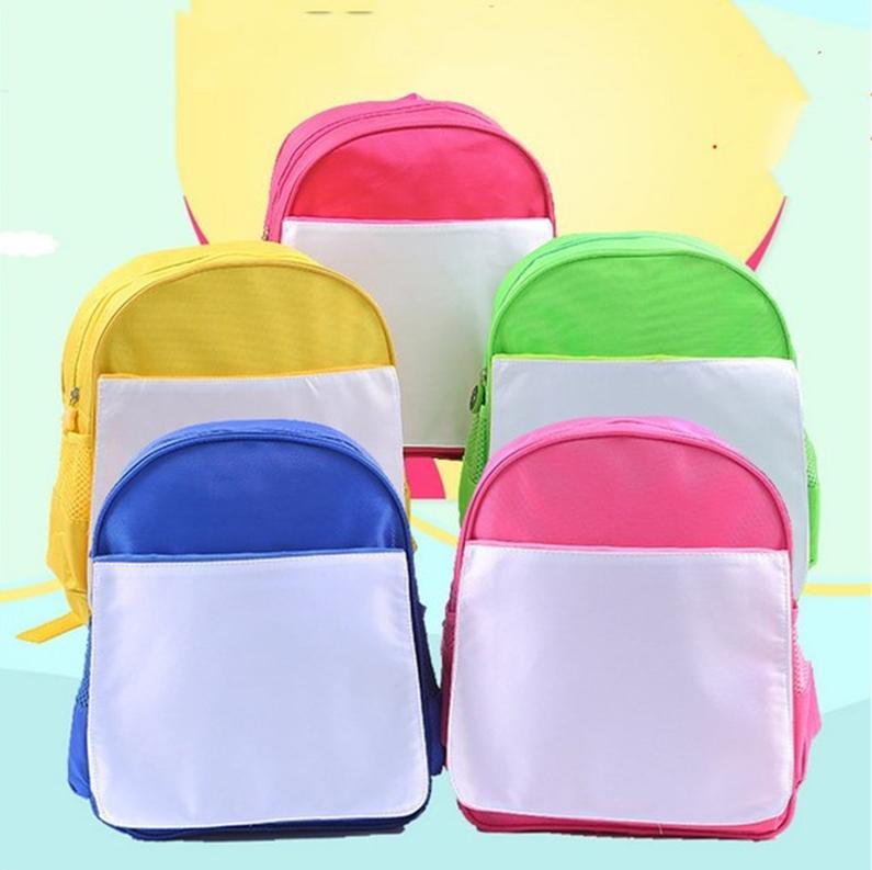 빈 승화 숄더 가방 아이 학생 학교 가방 책 팩 열 전사 열 인쇄 배낭 가방 DIY 로고 광고 소재 E121408