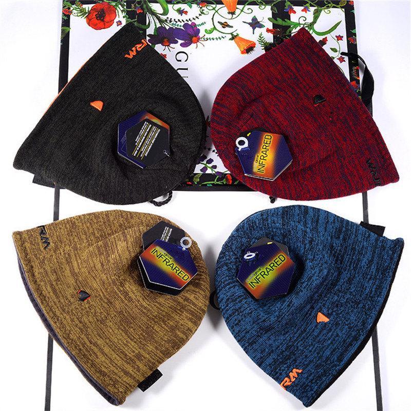 Unisex Beanie Reversible Gestrickte Hüte Winter Fleece Schädel Kappe Motorhaube doppelseitige Tragehut Mode Mützen Trendy Design Warme Kappen Hüte am besten