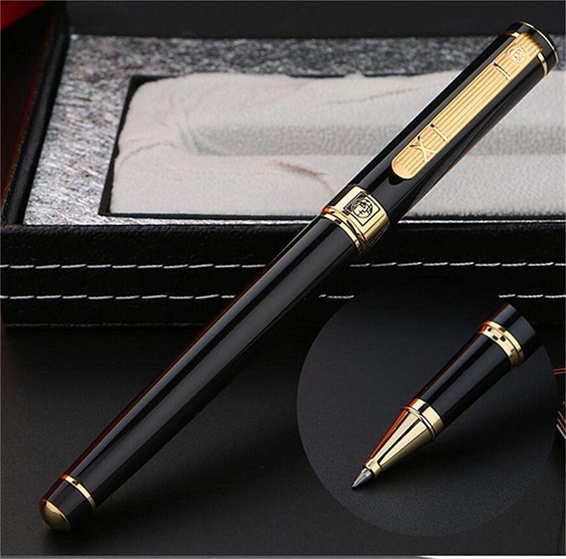 فاخر بيكاسو 902 الأسود الذهبي الطلاء النقش Rollerball القلم مكتب الأعمال اللوازم عالية الجودة خيارات الكتابة الأقلام مع مربع التعبئة والتغليف