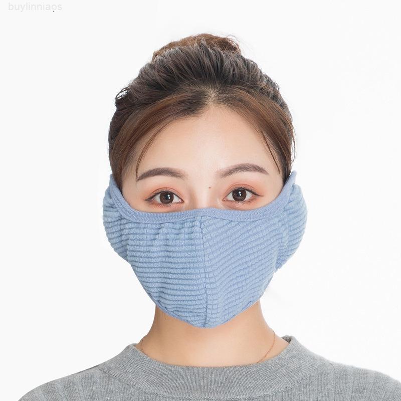 Masken 2 in 1 Gesichtsmaske Abdeckung Ohrschutz DHL Versand Dicke Warme Mundmaske Für Frauen Männer Winter Ski Mund-Muffel Earflap Kimter-X742FZ