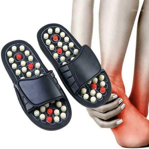 Тапочки Acu-Point Plippers Accupressure Massage Массажер для ног Флип Флоп Сандалии для женщин Мужчины 2020 Обувь Мода Женщина Человек Dropship1