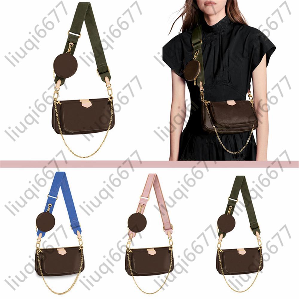 Novas bolsas de moda Multi Pochette Accessoires Bolsas Mulheres Favorite Mini 3 Pcs / Set Combinação Crossbody Bag Ombro Bags 3 Cores
