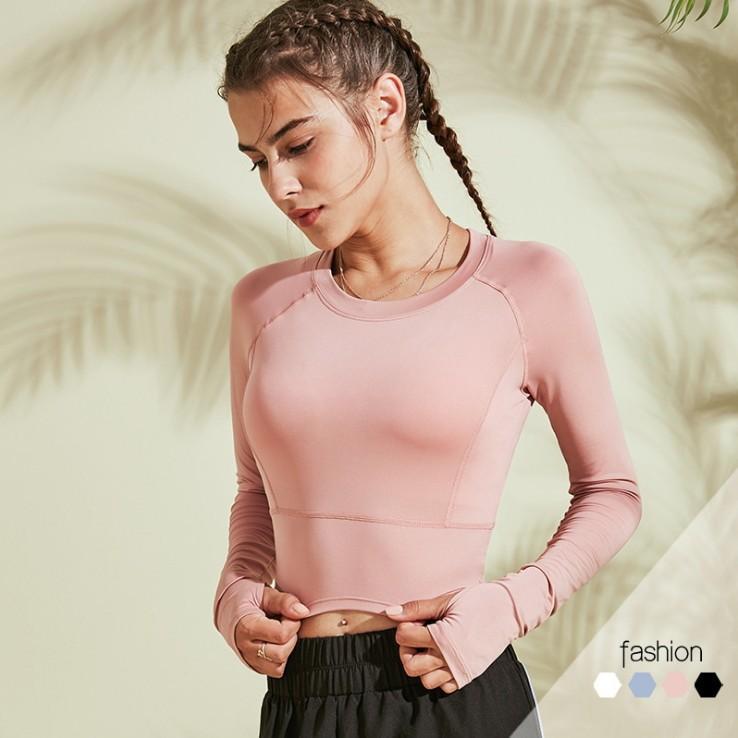 قميص المرأة قمم تيز ملابس طماق السيدات الرياضة اللياقة الجري اليوغا لينة تنفس الأزياء كل مباراة قصيرة معطف طويل الأكمام