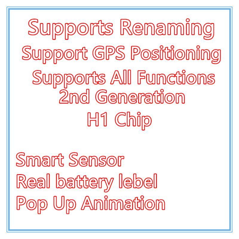 3 قطع dhl ups الحرة h1 رقاقة سماعات GPS إعادة تسمية الهواء AP3 برو AP2 TWS GEN 2 قرون منبثقة نافذة بلوتوث سماعة التلقيح التلقائي تهمة لاسلكية