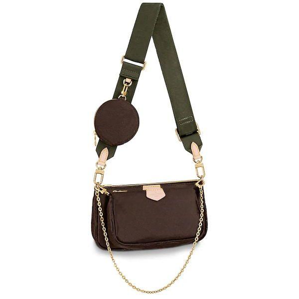 Mode Handtaschen Geldbörsen Frauen Favorite Mini Pochette 3 stücke Zubehör Crossbody Bag Vintag Umhängetaschen Leder Multi Color-Riemen M44813