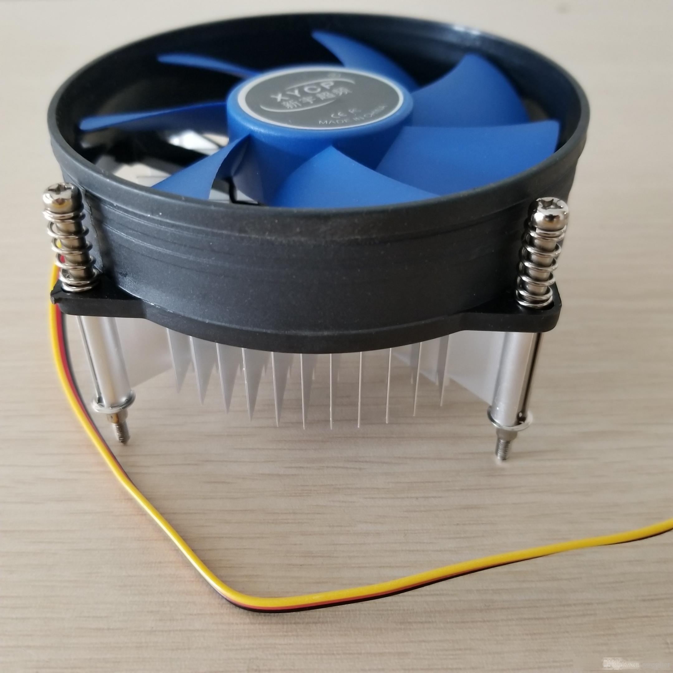 Overclocking & Ultra-Quiet CPU Heatsink Radiator Cooler Fan Intel 755Pin CPU Desktop Computer Fan