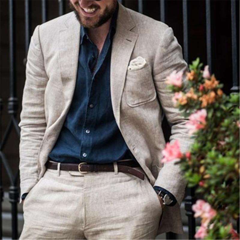 Nuevo Champagne Casual Hombres Traje 2 Piezas (Chaqueta + Pantalones + Corbata) Disfraz Homme Matrimonio Blazer Prom Groom Txedo Masculino Ropa 017