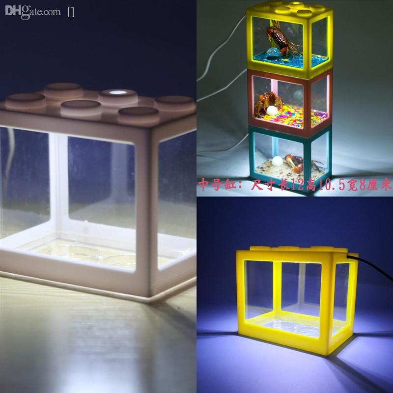 I8SJQ RGB Uzaktan Akvaryum Pompası Balık Tankı Lambası Peyzaj Işık Lego Blokları Balık Işık Sucul Su Geçirmez SMD LED Bar Işık Tankı Hava