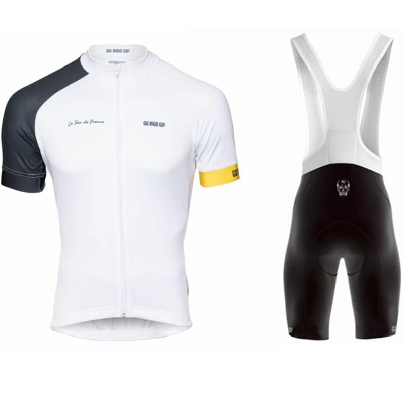 2020 Go Rigo Go Cycling Jersey Set Hommes Shirts Shorts Vélos Été Vélo Suit Vélos Pro Vêtements Pro Vêtements Colombie Ropa Ciclismo Maillot C0123