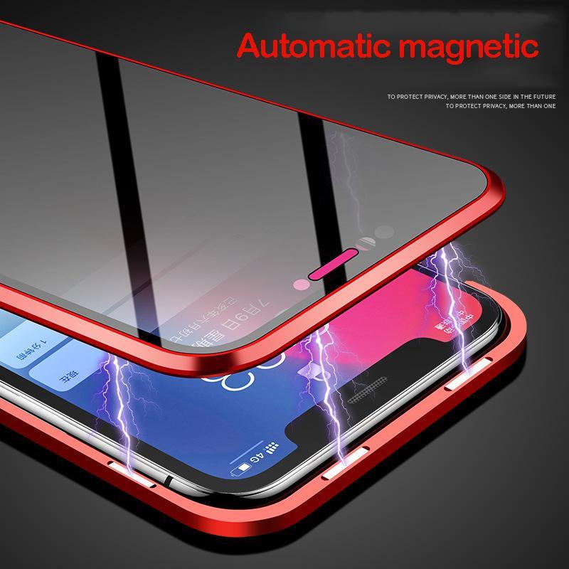 İPhone12 Anti-Peeping Manyeto Telefon Kılıfı Apple 11 Yaratıcı Metal Çerçeve 7 P Manyetik Koruyucu Kılıf Toptan Cep Telefonu Kılıfları