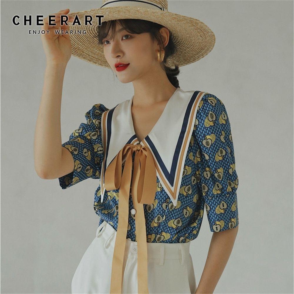 Chemisier Vintage Chemisier Blouse Blouse Blouse Chemise Chemise Femmes Loose Blouse Big Collier Designer Dames Top Corean Fashion LJ200811