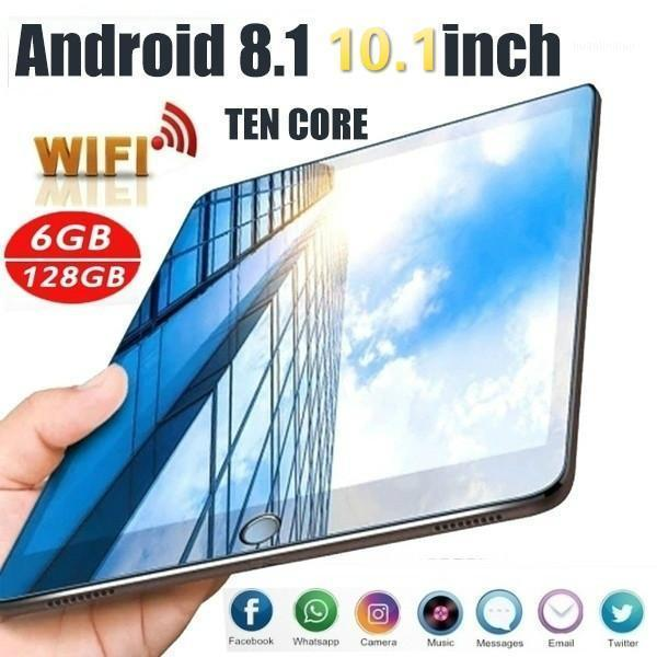 Tablet PC 2021 Google 1280*800 IPS Screen 10.1 Inch Ten Core 6G+128G Android 9.0 WiFi Dual SIM Card 4G Call1