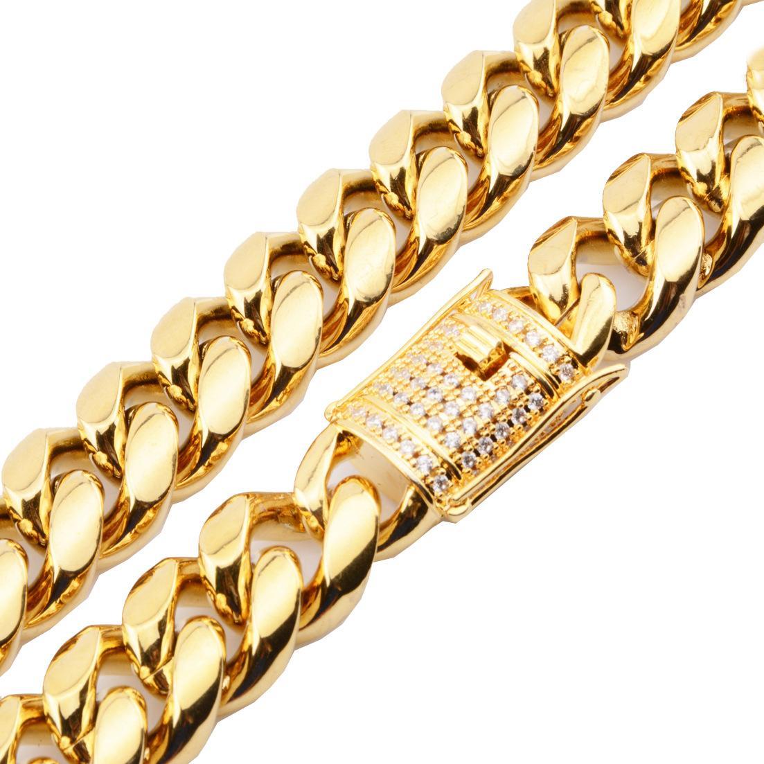 18 мм Heavy Mens 18K Gold заполнены сплошной кубинской CURB COURB COURBECE CUELLA BRACELES MIAMI мужской кубинской обузки звена цепи ожерелье браслеты 20'22 '' ''
