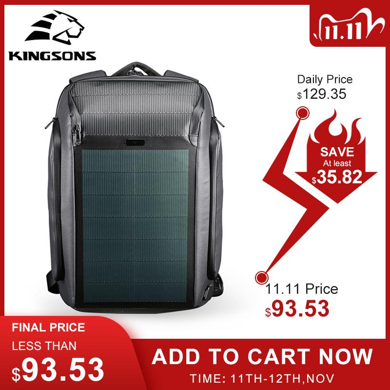 Kingsons Trave Backpack Security Trening Bankpacks Solar Panel Backpacks Solar Charging Efficiency Borse a tracolla Zaini antifurto