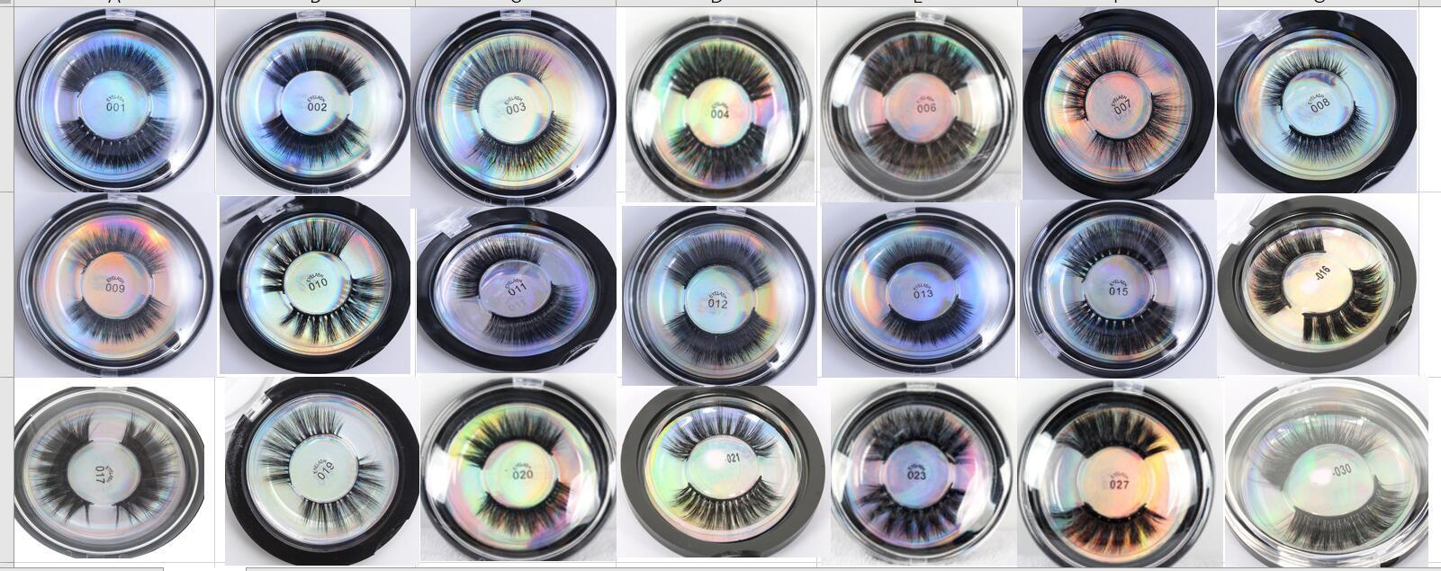 Mink Lashes 3D Silk Protein Mink False Eyelashes Soft Natural Thick Fake Eyelashes Eye Lashes Extension Makeup Lashes