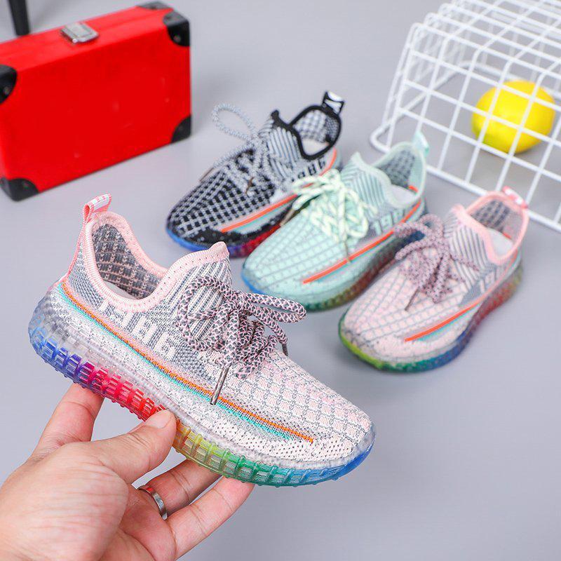 2020 키즈 소년 소녀 신발 패션 스니커즈 어린이 스포츠 테니스 신발 컴포트 캐주얼 아동 소년 소녀 실행 트레이너 신발 C1120