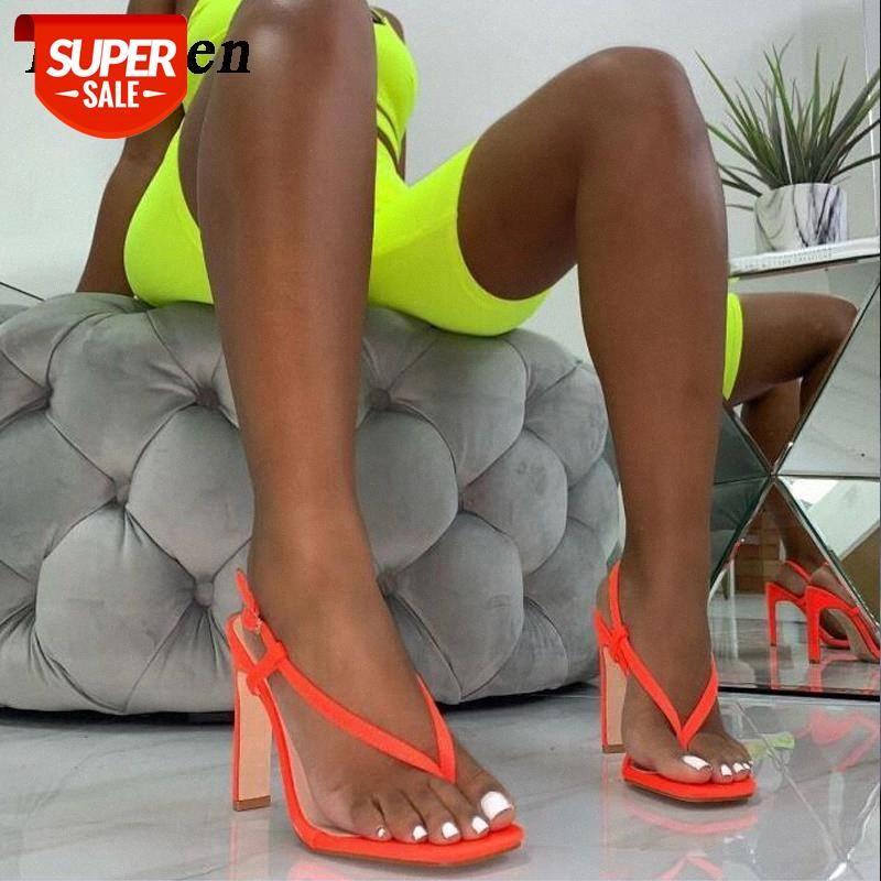 Eilyken Frauen Mode Schnalle Strap Pinch Sandalen Gladiator Schuhe Sommer Sexy Frauen Orange Schwarz High Heel Sandalen # TS4Q