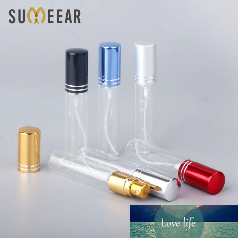 100 pz / lotto 10ml Portatile Vuoto Vuoto Caso Cosmetico Viaggio Viaggio Bottiglia per bottiglia per il regalo Campione Mini Bottiglia Parfum Trucco Trucco