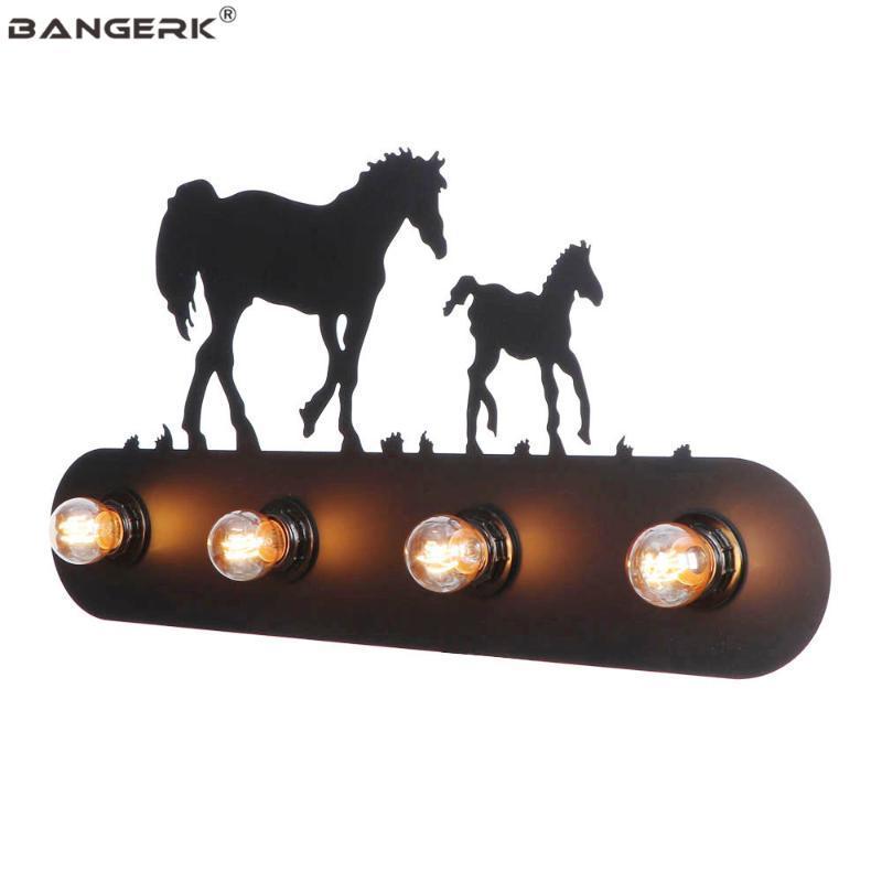 Retro LED Lámpara de pared Loft Decor Switch Sconces Luces de pared Vintage Diseño negro Iron Edison E27 Light Home Lighting